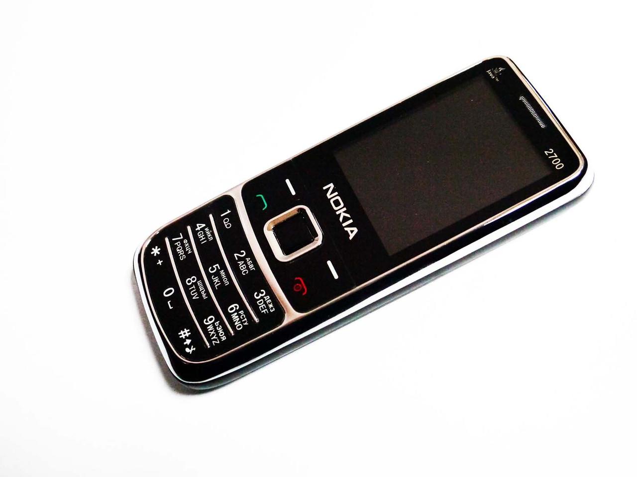 Телефон Nokia 2700 Черный - 2Sim+Camera+FM