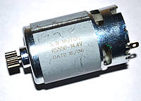 Мотор (двигатель) для шуруповерта универсальный 14,4V (с шестерней 12 зубов)