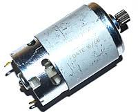 Мотор (двигатель) для шуруповерта универсальный 14,4V (с шестерней 9 зубов).