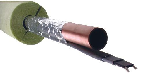обогрев трубы кабелем и теплоизоляцией