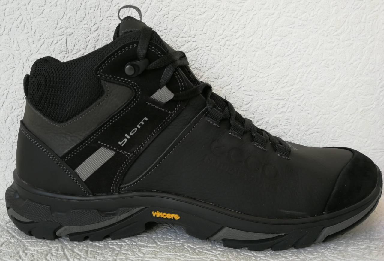 0b44749f356d41 Экко зимние кожаные ботинки из кожи мех в стиле Ессо кроссовки черного цвета