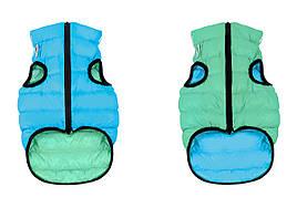 Одежда для собак Airy Vest Lumi XS 30, куртка, жилет салатово-голубой светящийся