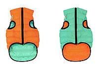 Одежда для собак Airy Vest Lumi S 30, куртка, жилет салатово-оранжевый светящийся