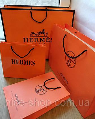 Подарочный пакет Hermès: горизонталь, mахi, фото 3
