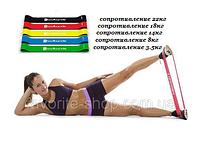 Резинки для фитнеса bodband. Набор 5шт. + чехол, фитнес-резинки, резиновые петли, эспандер-кольцо, эспандер