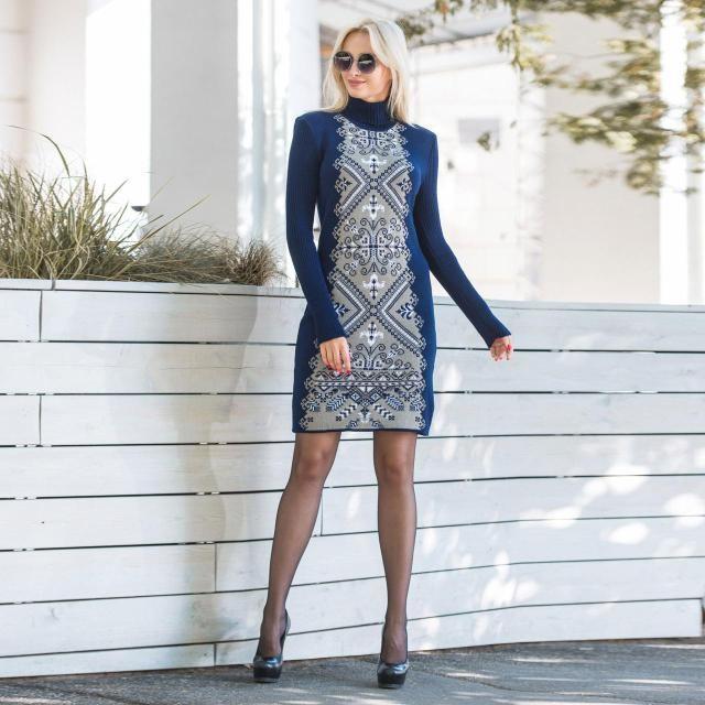 Красивое богатое вязаное платье - Оптово - розничный магазин одежды