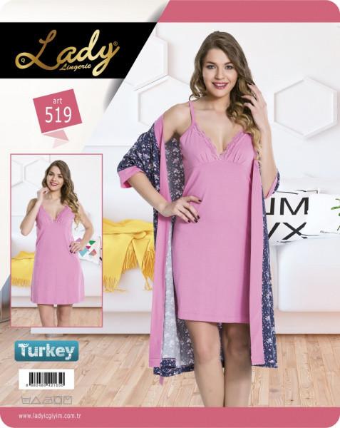 Халат з сорочкою LADY LINGERIE 519