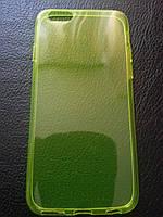 Силиконовый желтый чехол для Iphone 6 6S, фото 1