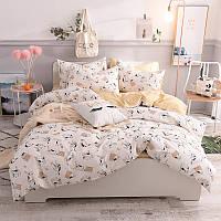 Хлопковый комплект постельного белья Игривый котенок (двуспальный-евро)