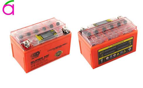Аккумулятор 12V 7А гелевый (оранжевый, с индикатором заряда, вольтметром), фото 2
