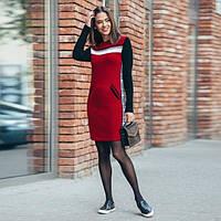 Вязаное платье-свитер с кармашками