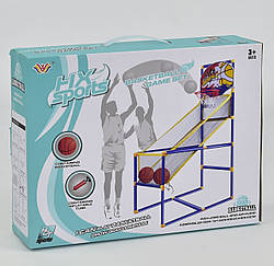 Игровой спортивный набор, баскетбольный щит с кольцом и сеткой, код 777-447