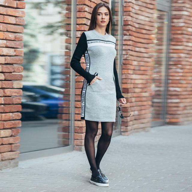 Платье-свитер свободного кроя   продажа 8f028787d23f6