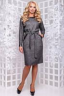Теплу сукню з щільної ангори рукав летюча миша з кишенями 50-52 розміру темно-сіре, фото 1