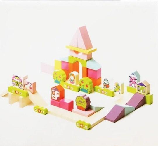 Конструктор деревянный CUBIKA 13906 Городок для девочки