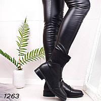 Стильные ботинки зимние женские черные   41 размер, фото 1