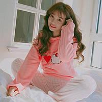 Женская флисовая теплая пижама I Love Kitty