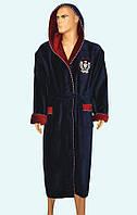 Халат мужской махровый натуральный с капюшоном фирмы MASSIMO MОNELLI     2XL