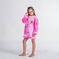Детский плащ - дождевик из винила «Барби».размер-M