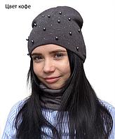 Шапка двойная детская Арктик Жемчуг шапки для девочек подростковые 6f7a99155f748