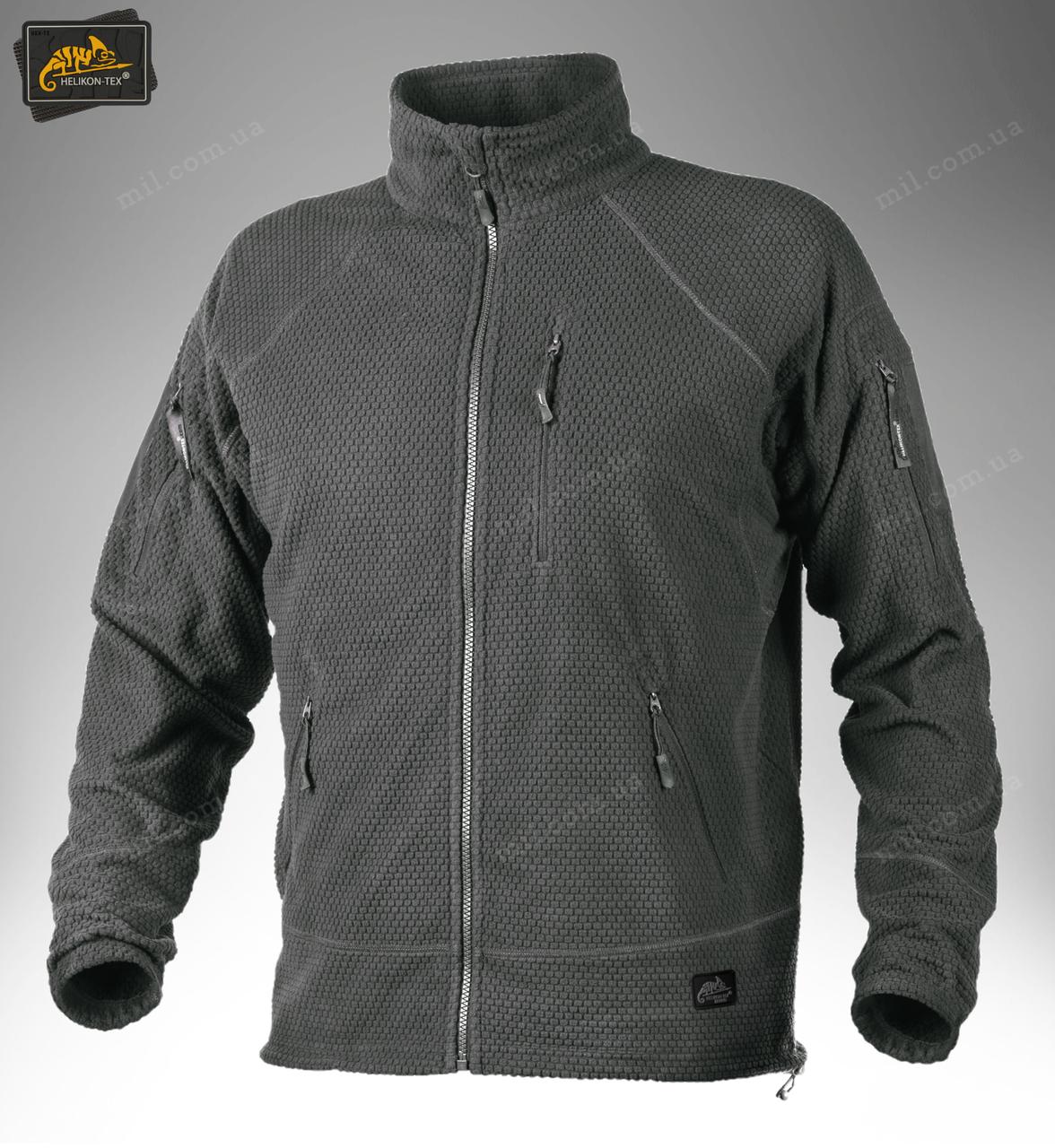 Тактическая флисовая куртка/ кофта Helikon-Tex® ALPHA TACTICAL fleece (серый)