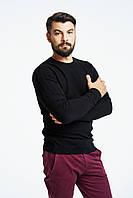 Мужской джемпер черный  стильный свитер