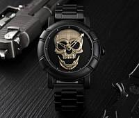 Мужские наручные часы SKMEI Skull GOLD Face