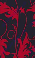"""Коврик Флорида """"Колокольчик на стебле"""" цвет черный с красным. Купить ковер Киев недорого"""