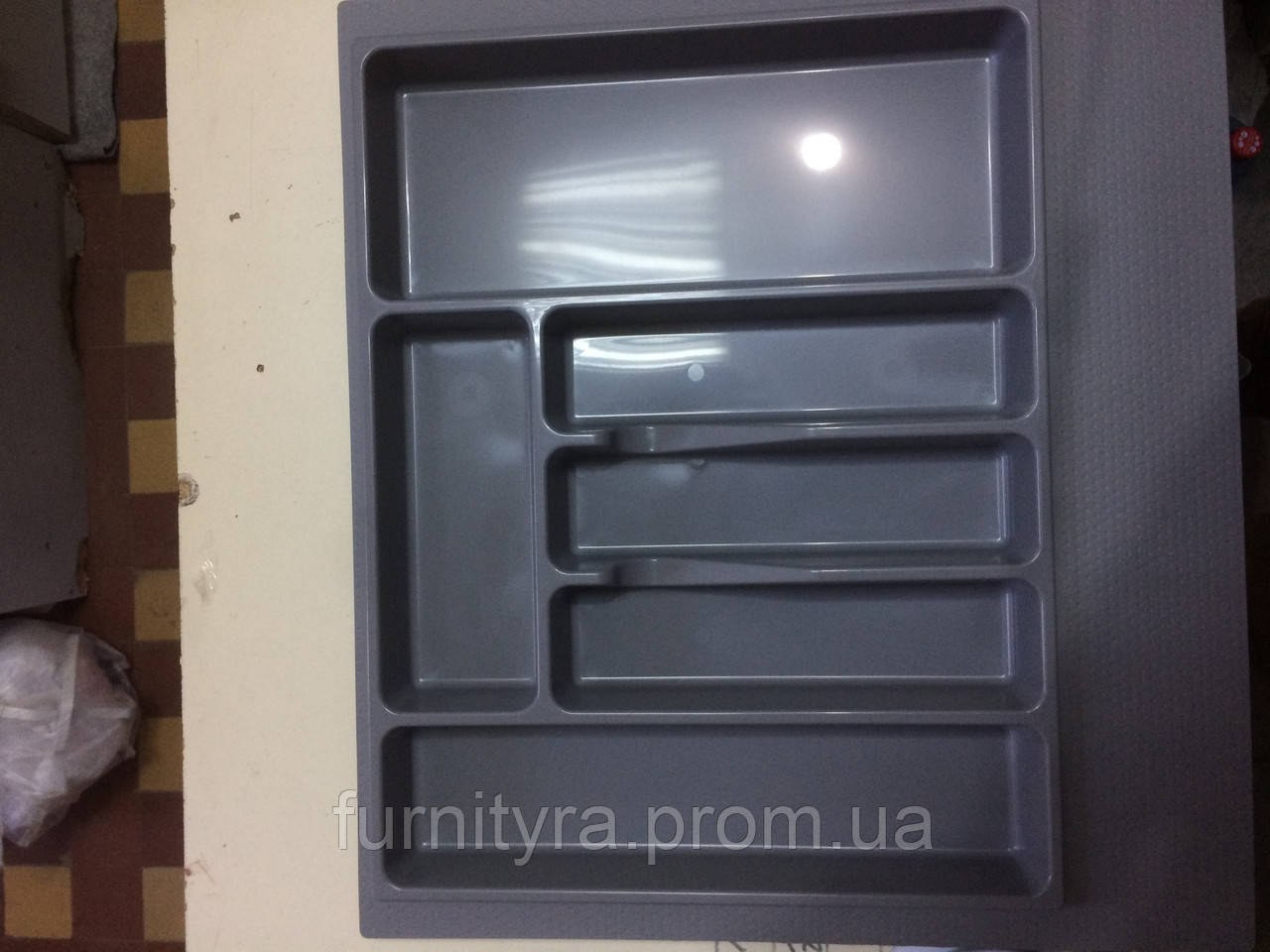 Пенал для кухонных приборов Volpato, серый, 540x490 мм