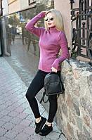 """Вязаный женский свитер """"Ника"""", фуксия, фото 1"""