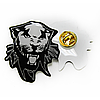 """Сувенирный значок-линза """"Черная пантера"""""""