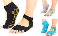 Носки для йоги и танцев без пальцев 6985: размер 36-41, 3 цвета