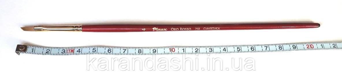"""Кисть Pinax """"Oro Rosso"""" Синтетика   Плоская Скошенная  758 N 4, фото 2"""