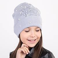 Модная осенняя шапка для девочки - Арт 1994, фото 1