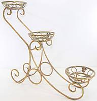 Подставки  кованые для цветов,Сани каскад 3