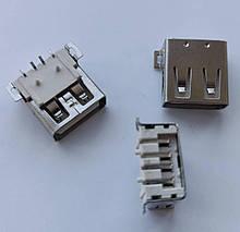 Коннектор USB, USB Гнездо (разъем) мама, крепление на плату. 1 шт