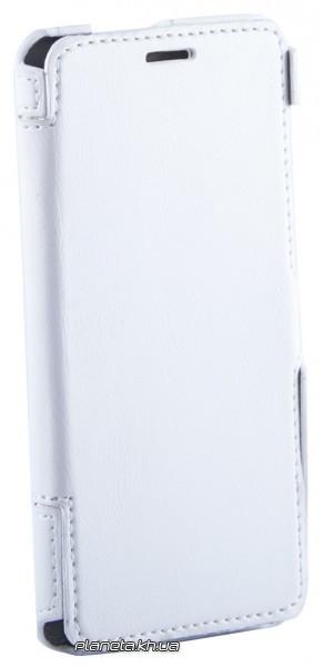 Florence кожаный чехол-книжка для Lenovo S850 белая