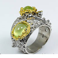Handmade!!! Кольцо серебряное 925 натуральный пренит.
