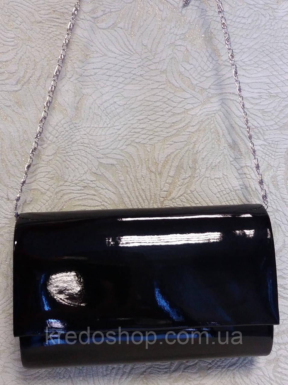 ce8509f87af8 Клатч женский вечерний черного цвета,лаковый.(Турция) - Интернет-магазин  сумок