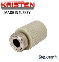 Kristen Турция Муфта С Накидной Гайкой Ø20Х3/4 (Пластиковая Вставка)