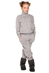 Детские вязанные костюмы для девочек трикотажные размеры 140-152