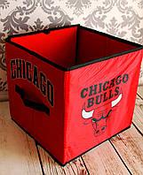 УЦЕНКА.Короб складной для игрушек, вещей и мелочей. 30*30*30см. Чикаго Буллс