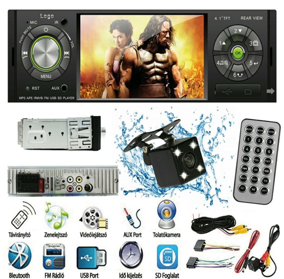 """АвтомагнитолаPioneer 4504 ,bluetooth ,4,1""""экран.USB,Sd+пульт на руль - www.ibazar.com.ua в Одессе"""