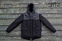 Зимняя Мужская Теплая Куртка-Парка Jordan Мужские Черные Куртки Зимние Джордан