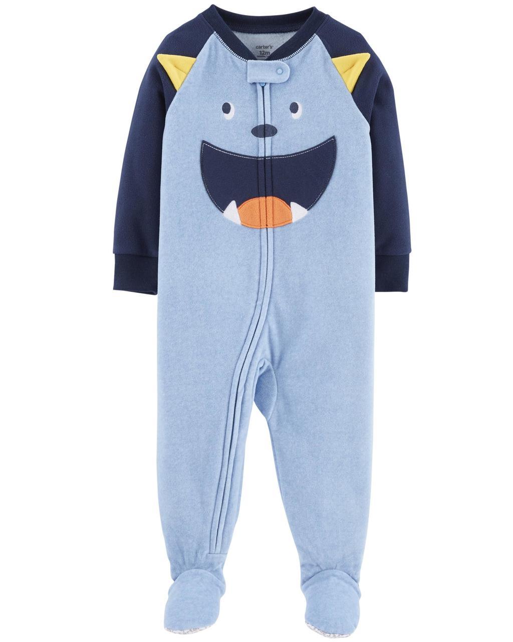 Пижама-человечек флисовый на мальчика 2-3-4-5 лет  Монстрик Carter's (США)