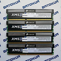 Игровая оперативная память Corsair DDR3 16Gb KIT of 4 1333MHz PC3 10600U CL9 (CMX16GX3M4A1333C9)