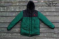 Зимняя Мужская Теплая Куртка-Парка Jordan Мужские Зеленые Куртки Зимние Джордан