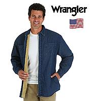 Рубашка джинсовая Wrangler®(США)(M)/на меховой подкладке(sherpa)/Оригинал из США