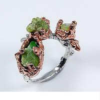 Handmade!!! Кольцо серебряное 925 натуральный изумруд.