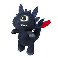 Мягкая игрушка дракон Беззубик 19 см. со звуком из США